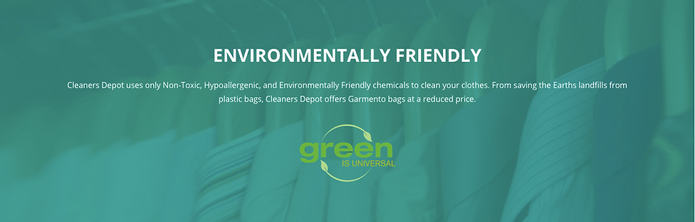 Cleaners Depot - Our Environment
