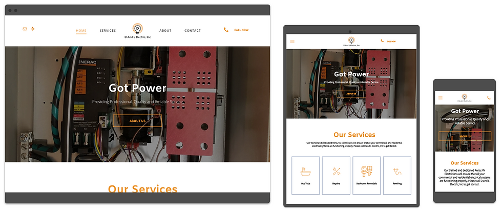 electrician website design by consumr bu