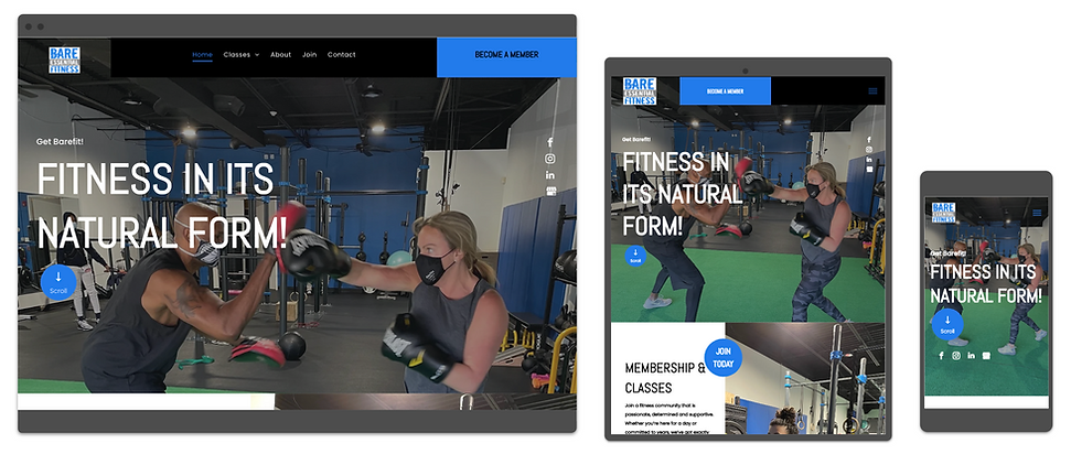 fitness website designed by consumr buzz