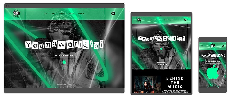 musician website design by consumr buzz.
