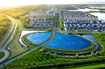 Modern sustainable neighbourhood in Alme