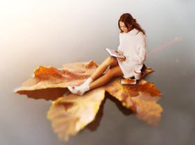 Eliska Buckova autumn reading, miniature series