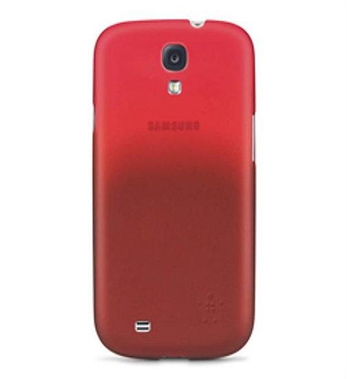 Belkin Samsung Galaxy S4 Micra Glam Matte Case In Red
