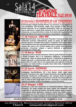 Stagione Teatrale Sala14 2018