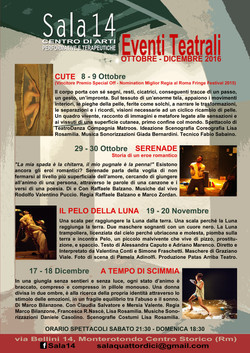 Stagione Teatrale Sala14 2016