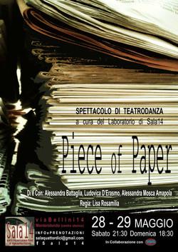 PIECE OF PAPER - Lab TeatroDanza Sala14