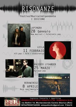 RISONANZE Festival Musica Indipendente Sala14 2018