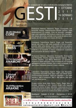 GESTI Festival TeatroDanza Sala14 2017