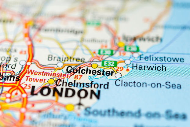 Macro view of Colchester, United Kingdom