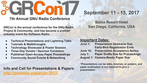 GRCon17 將在09/11~09/15於美國加州聖地牙哥巴伊亞渡假飯店舉行