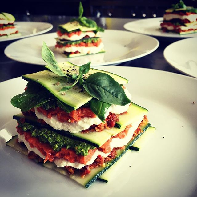 Raw food lasagne coming out of the Whole Truth Retreat kitchen at Bodhi Khaya - a whole lotta uncooking going on :)