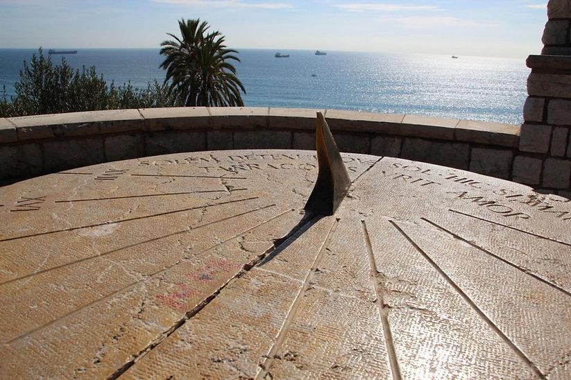 Ancient sundial in Tarragona, Spain