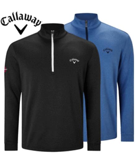 CALLAWAY GOLF MENS 1/4 ZIP STRETCH WAFFLE SWEATER
