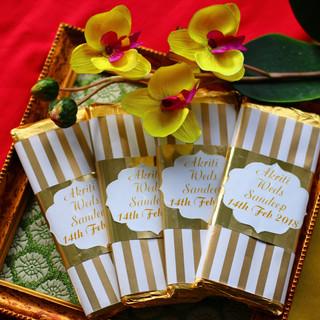 Indian Wedding Invitations with Chocolat