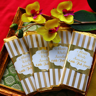 Indian Wedding Invitations with Chocolat