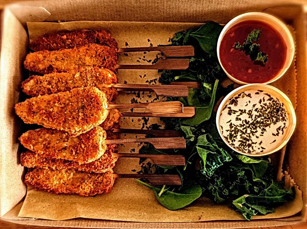 Vegan Chicken Style Skewers   Chef Kel V