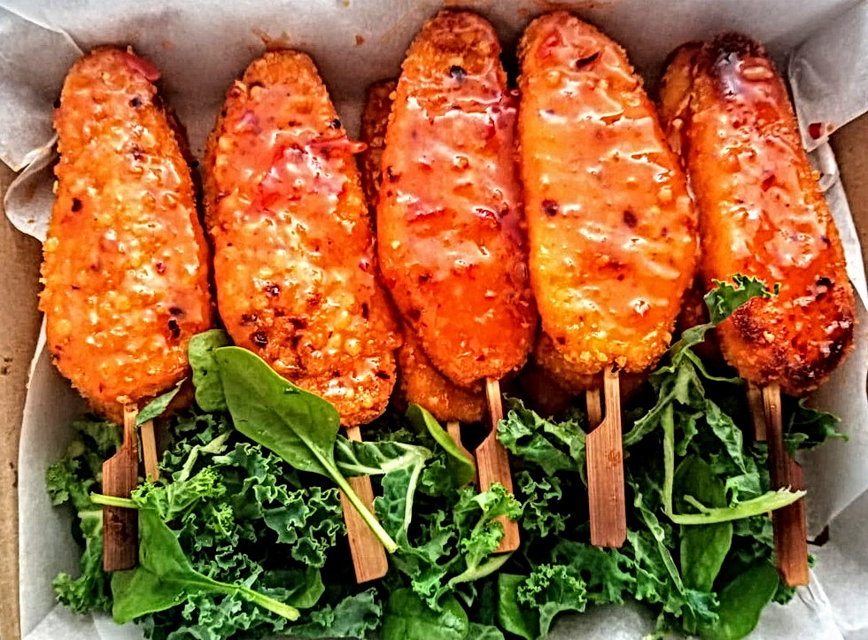 sweet chilli crispy chicken skewers chef