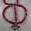 Thumbnail: Custom American Red w/ Cross of Jerusalem Center Rosary