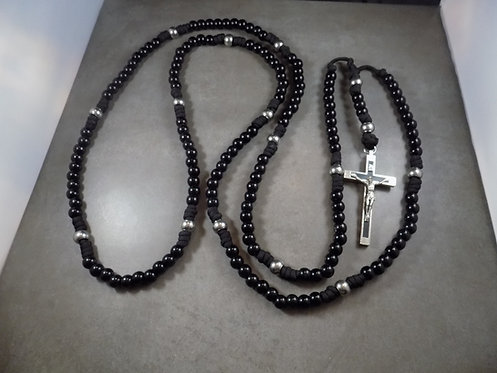 Black Monk 15 Decade Habit Rosary