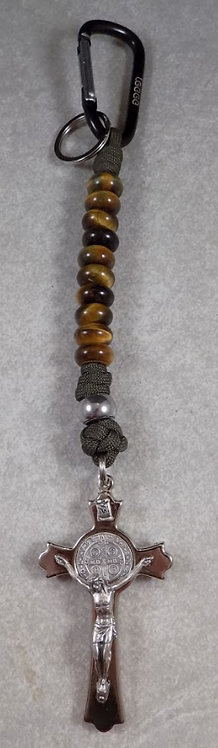 Pater Noster - Our Father (Tiger Eye Stone Beads)