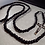 Thumbnail: Black Monk 15 Decade Habit Rosary (All Black Beads)