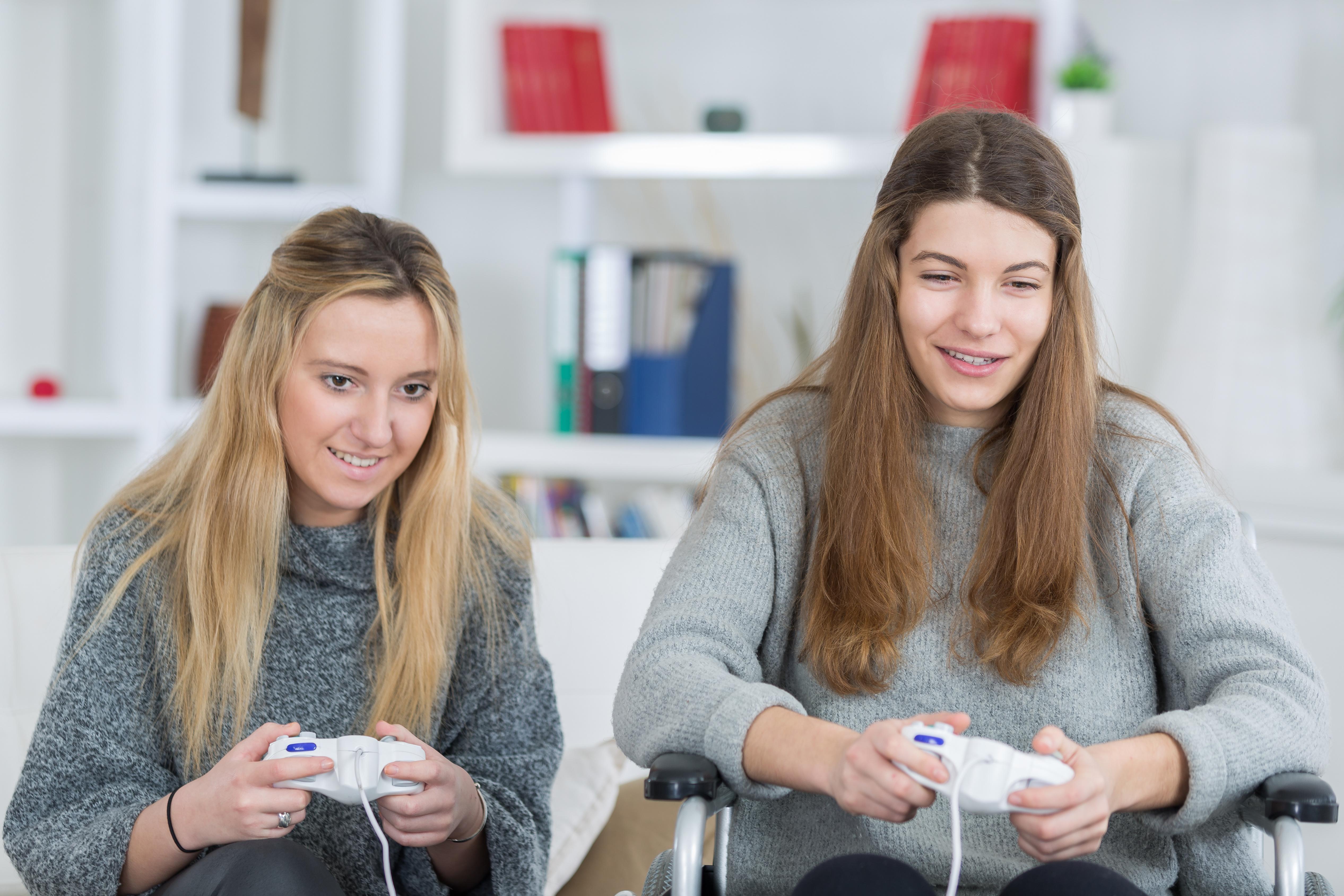 wheelchair friends video games female