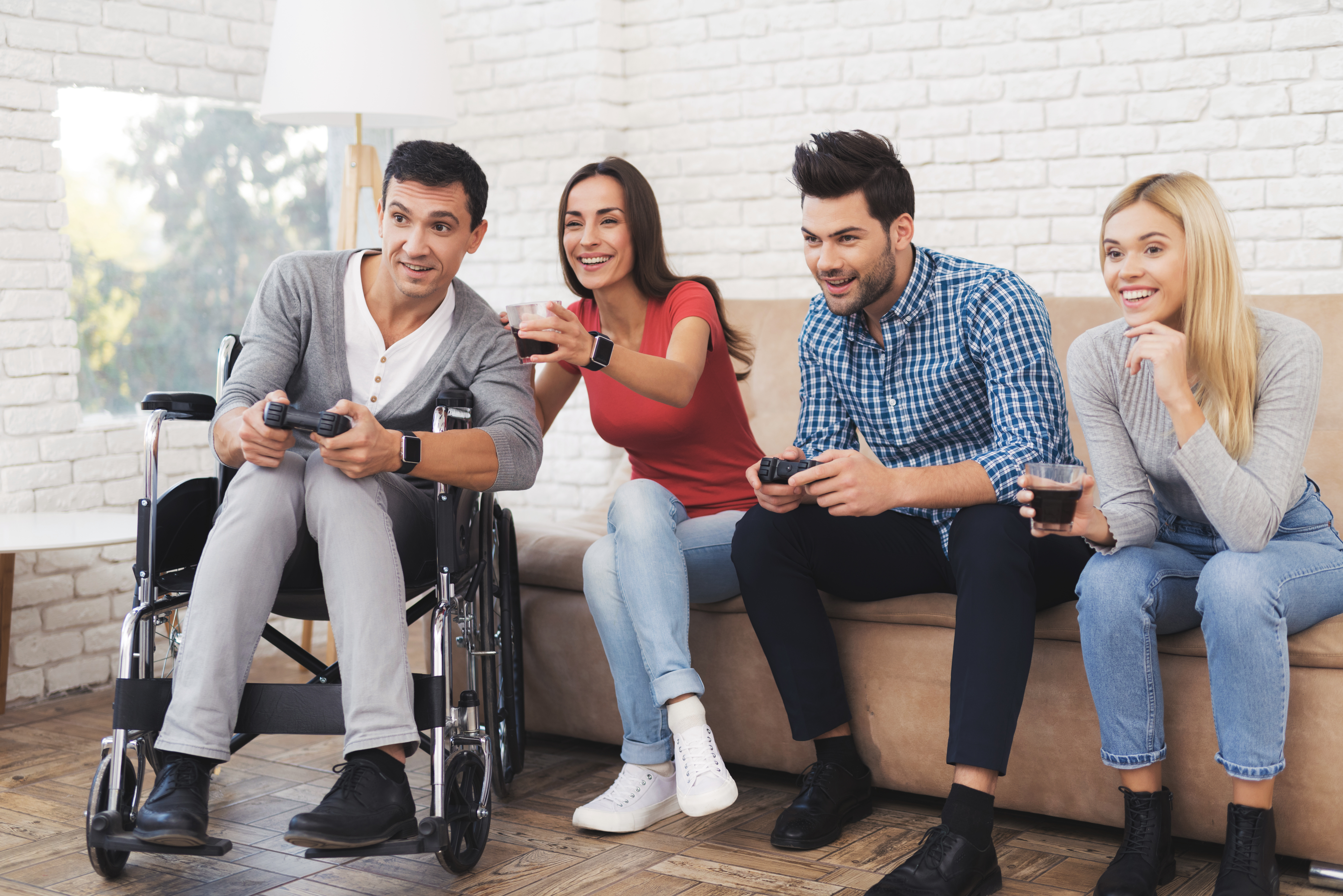 wheelchair group video games male