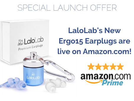 Lalolab's new earplugs just rolled out on amazon