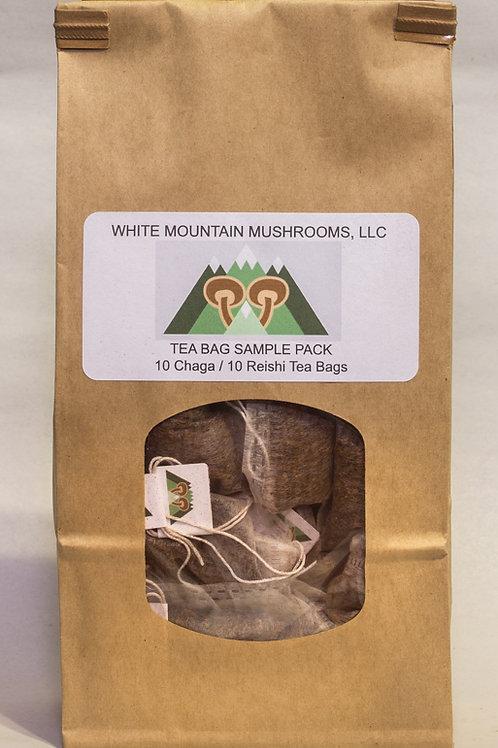 Chaga/Reishi Tea Bags Sample Pack (10 of each)