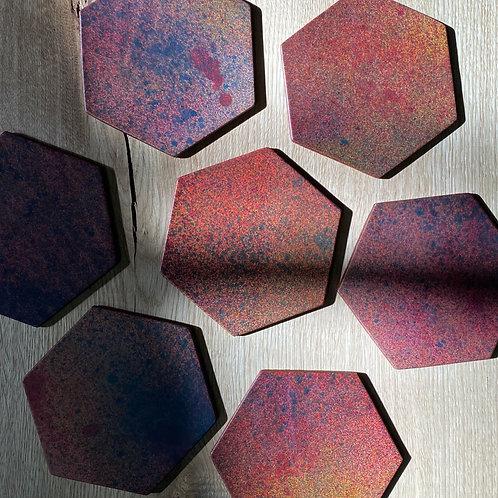 Glasuntersetzer aus Leder