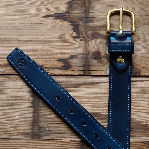 Business Ledergürtel 3 cm Breit Royal Blau