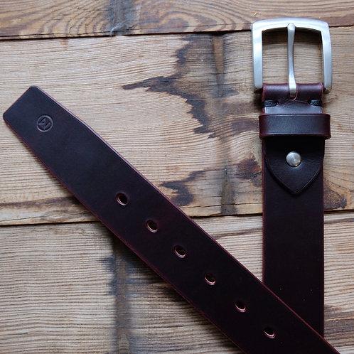 Ledergürtel 4 cm Breit Bordo