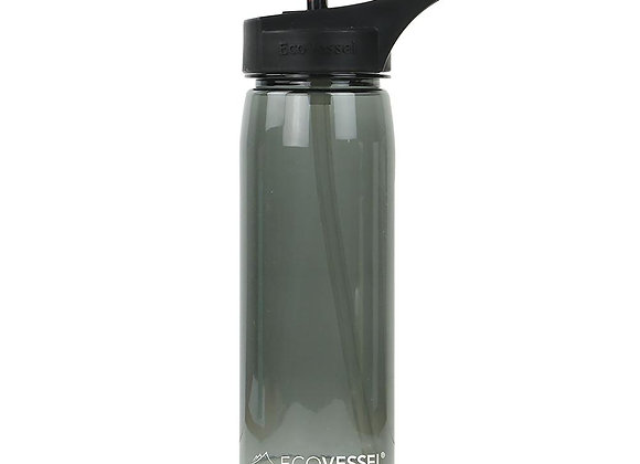 Ecovessel THE WAVE - BPA FREE SPORTS WATER BOTTLE WITH STRAW - 25OZ