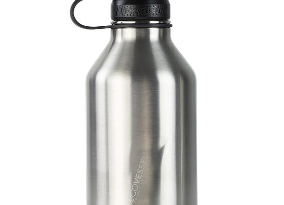 Ecovessel BOSS TRIPLE INSULATED STAINLESS STEEL GROWLER BOTTLE WITH INFUSER - 64