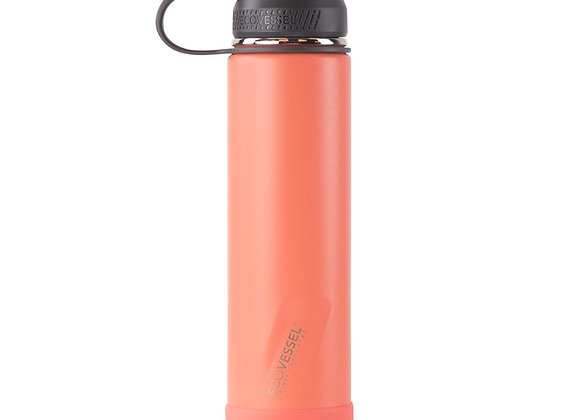 Ecovessel THE BOULDER TRIMAX INSULATED WATER BOTTLE WITH STRAINER - 24 OZ
