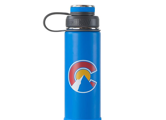 Ecovessel THE BOULDER TRIMAX INSULATED WATER BOTTLE WITH STRAINER - 20 OZ