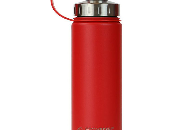 Ecovessel THE BOULDER - INSULATED WATER BOTTLE W/ STRAINER - 20OZ