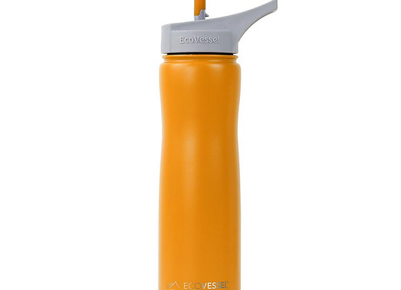 Ecovessel THE SUMMIT - STAINLESS STEEL INSULATED WATER BOTTLE WITH STRAW - 24OZ