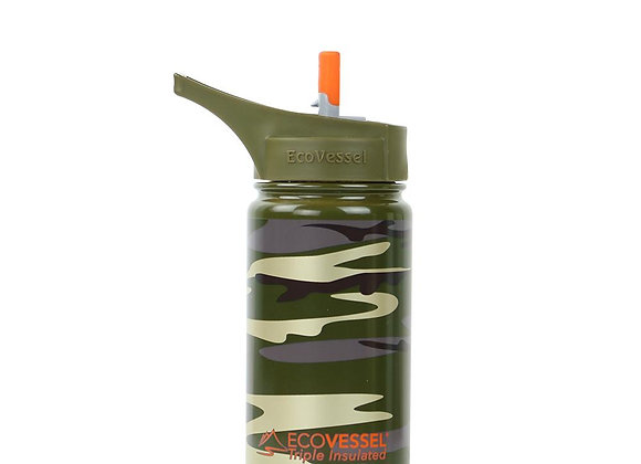 Ecovessel THE FROST - INSULATED STAINLESS STEEL KIDS WATER BOTTLE WITH STRAW - 1