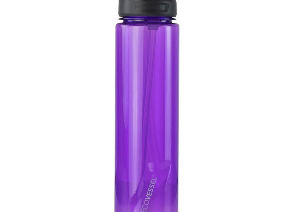 Ecovessel THE NEW WAVE - BPA FREE SPORTS WATER BOTTLE WITH STRAW - 32 OZ