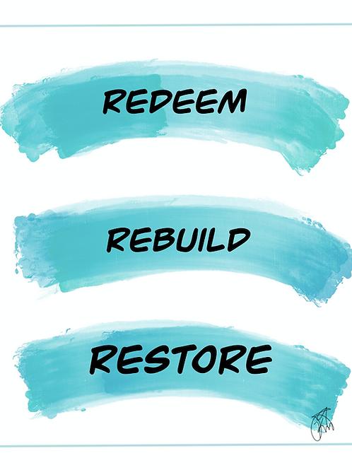 Mini Redeem, Rebuild and Restore prompts pdf.