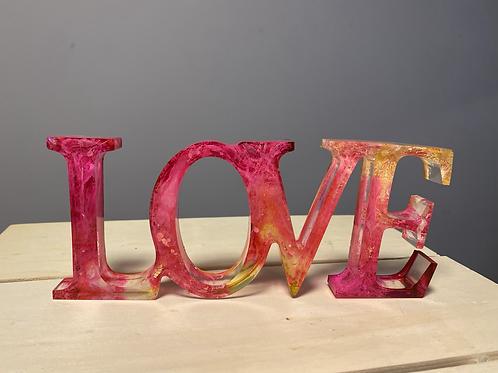 LOVE - Home decor with coaster
