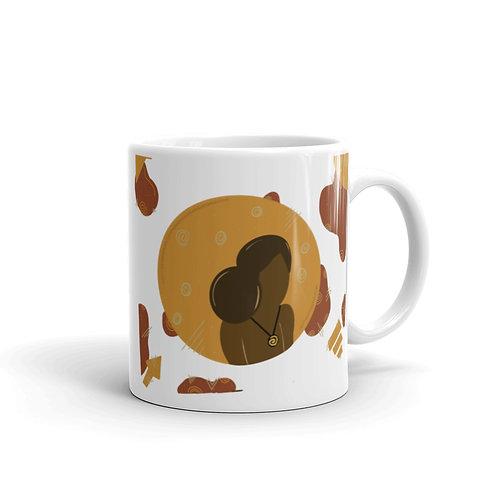 Golden glossy mug