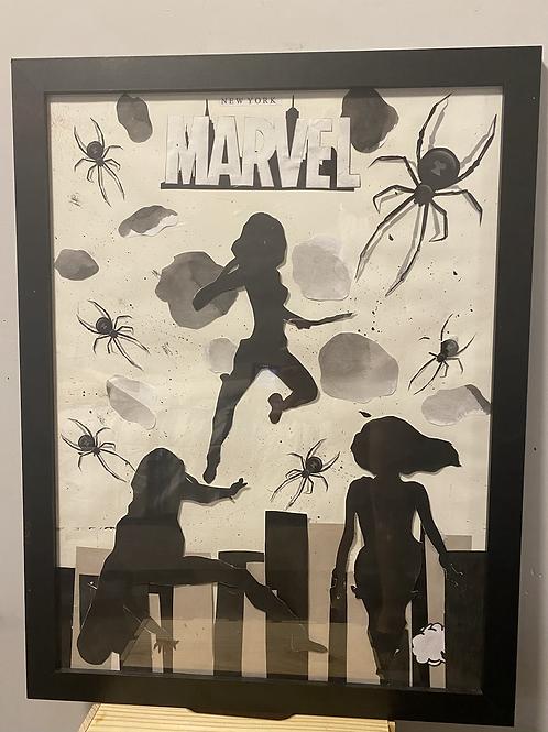 Black widow Collage