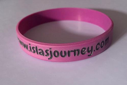 Isla's journey purple wrist band
