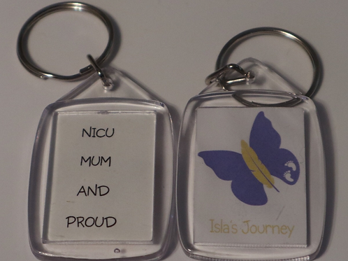 Isla's Journey Butterfly Keyring with personalisation