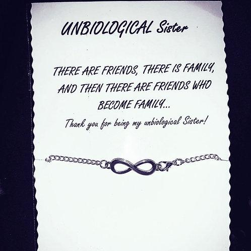 Unbiological sister bracelet