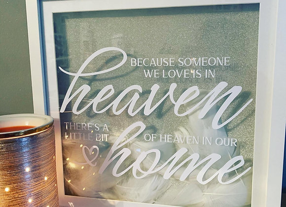 Someone in heaven memorial shadow box frame