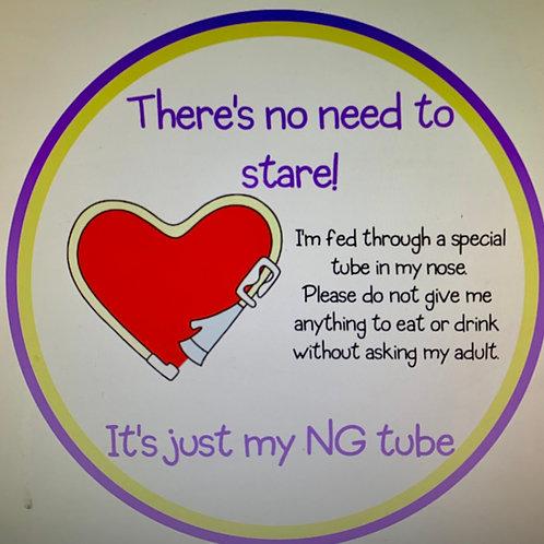 NG tube pram sign