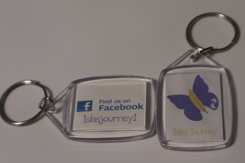 Isla's Journey Facebook Keyring